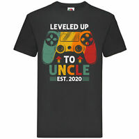Leveled Up To Uncle Est - personalised t-shirt