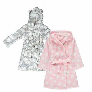 Ex-George Kids Dressing Gowns, Super Soft Robe Girls Boys Bathrobe 1 to 16 Yrs