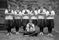 "1917 Friends School Girls Basketball Team Old Retro Photo 8.5"" x 11"" Reprint"