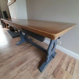 Delightfully Upscaled Vintage  Refectory Farmhouse/Kitchen/Dining  Table