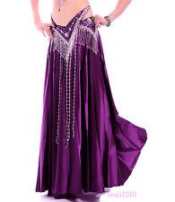 New Belly Dance Costumes Satin Long Skirt Swing Skirt Dress 14 Colors