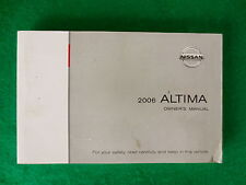 2006 06 Nissan Altima Owners Manual  N15