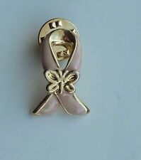 Pink Breast Cancer Butterfly Awareness Lapel Hat Pin