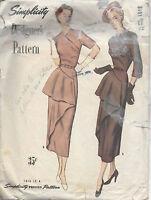 1948 Vintage Sewing Pattern B32 EVENING DRESS 1764