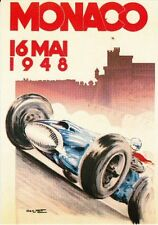 PLAQUE METAL 20X15 GRAND PRIX AUTOMOBILE 16 MAI 1948 DE MONACO