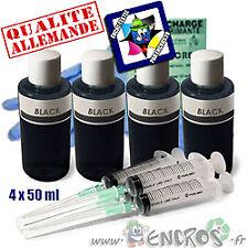 Recharge Kit Encre 4x50ML Couleur BLACK universelle pour HP
