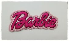 BARBIE Patch Sew Iron on Embroidered Logo Badge Cartoon Symbol Jacket Diy Cute