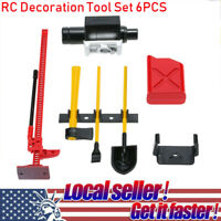 6Pcs 10008 RC Decoration Tool Set Kit RC Accessories for 1:10 RC Rock Crawler_AU
