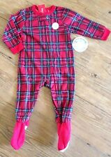 18 months Red Plaid Brinkley Sleeper Footed Flannel