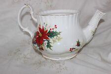 Royal Albert POINSETTIA Teapot  théière. No LID