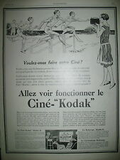 PUBLICITE DE PRESSE KODAK CINE-KODAK APPAREIL CINEMATOGRAPHIQUE SAUT HAIES 1927