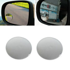 1 Pair 360° Frameless Wide Angle Round Convex Blind Spot Rearview Mirror