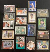 Baseball Game Used Jersey/Autograph/Patch/Stamp Lot - Boggs, Cabrera, Spahn, +
