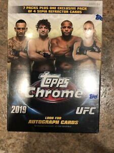 2019 Topps Chrome UFC Blaster box MMA Trading Cards 7+1 Bonus Pack HTF HOT