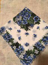 Vintage Blue Roses Hankie