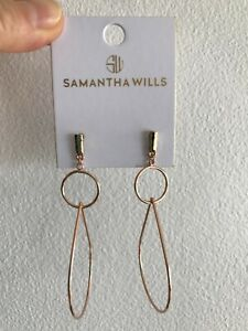 New Samantha Wills drop earrings in rose gold