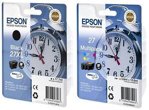 4 Epson Druckerpatronen Tinte 27 XL T2711 BK / 27 T2705 C/M/Y Multipack