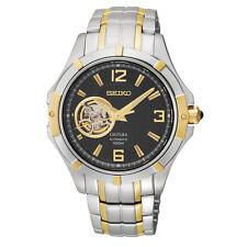 Seiko SRP318 Men's Coutura Two Tone Automatic Partial Skeleton Dial Watch $450