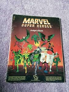Good (1986, TSR) MARVEL SUPER HEROES Role Playing Game: JUDGES BOOK (TP)