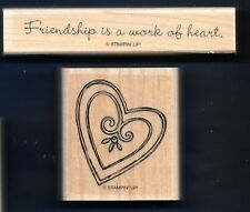 FRiENDSHIP is Work of HEART Card Words STAMPIN' UP! Mount Craft RUBBER STAMP