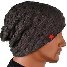 BLACK FRIDAY DEALS Men Knit Beanie Reversible Baggy Cap Skull Chunky Winter Hat