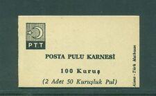 Turkey 1967 100 TL 2 x 50 stamp pane  Booklet