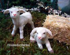 Miniature  Pair of Sheep  Lamb w Picks MG 83  Fairy Garden  Terrarium