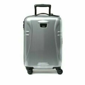 """New TUMI 98439-1776 International 21"""" Carry On Hard Side Travel Case Silver NWT"""