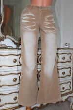 TODAYSWOMAN corduroy distress effect flared  trousers size 10