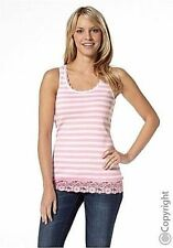 Gestreifte Spitze Damenblusen, - Tops & -Shirts in Größe 38