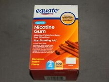 Equate Nicotine Gum 100 Pieces 2 MG Coated Cinnamon Rush Flavor Exp 08/2021