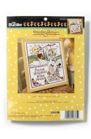 "Bucilla Baby Counted Cross Stitch Birth Record Kit By Plaid Mother Goose 10""x13"""