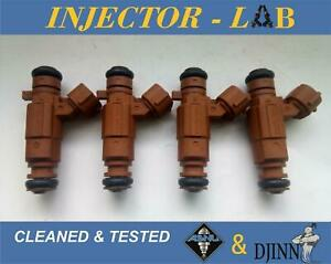 Kia Sephia Spectra 1.8L injectors 9260930008 0K2A5-13250 set of 4 CLEANED&TESTED