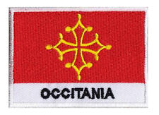 Patch brodé badge écusson à coudre patche drapeau OCCITANIE 70 x 45 mm