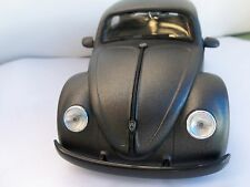 JADA 1/24 SCALE PAINTED CHARCOAL GRAY 1959 VW BEETLE NEW IN BOX W/ BLACK WHEELS