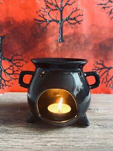 Cauldron style ceramic wax melt warmer oil burner Halloween witch