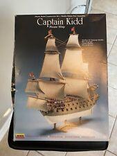 Pirate Ship Captain Kidd 1/130 scale plastic model, Lindberg 70873, Open Box New