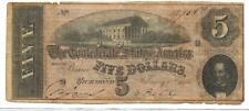1864 Confederate States of America $5 Series 2-CS69