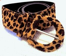 ladies waist belt size 8-10-12,girls waist belt vintage Leopard print,Uk seller