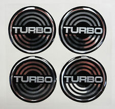 Vintage 80's 90's Automotive Wheel Center Cap Round Emblem Accent Trim TURBO 1.7
