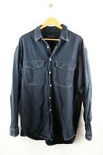 Valentino Jeans vintage Herren Hemd Gr. 43 ca. XL langarm schwarz