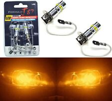 LED 50W H3 Orange Amber Two Bulbs Fog Light Quality Replacement JDM Lamp OE