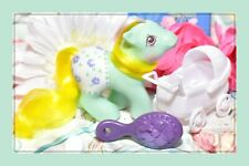 ❤️My Little Pony MLP G1 Vtg 1987 Baby Fancy Pants Baby Sunnybunch Turquoise❤️