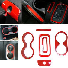 6 pcs/Set Red Interior Decoration Trim Kit For Jeep Wrangler 2/4 door 2011-2017