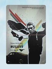 """Us Seller- """"Bullitt"""" Steve McQueen movie poster metal tin sign decor shop"""
