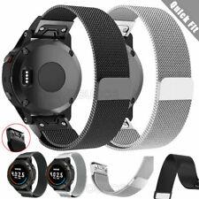 For Garmin Fenix 5 5X Plus GPS 6 6X Pro 3 HR Milanese Watch Band Strap Quick Fit