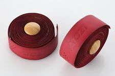 New Atozi 100% Genuine Real Leather Bicycle Bike Cycle Handlebar Tape Wrap - Red