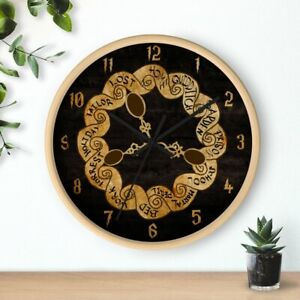Weasley Wall Clock with Spoons Harry Potter Wooden Frame Housewarming Gifts