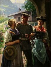 Emil Rau German Soldier With Iron Cross & Family World War 1 11x8 Inch Print