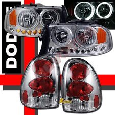98 99 00 01 02 03 Dodge Durango SLT R/T CCFL Halo LED Head Lights & Tail Lights